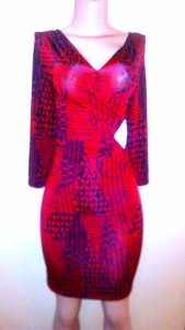 Ellen Parker burgundy dress NGN 10000