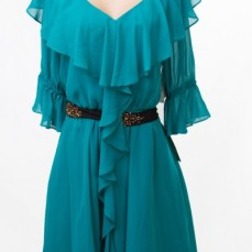 Green Occasional Dress by Pearl SOLD OUT