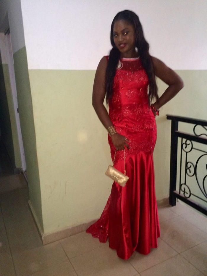 nkoli red dress evening scarfless