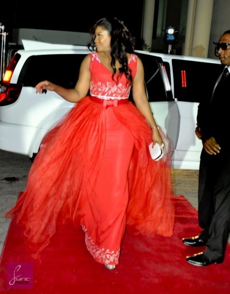 omotola in red
