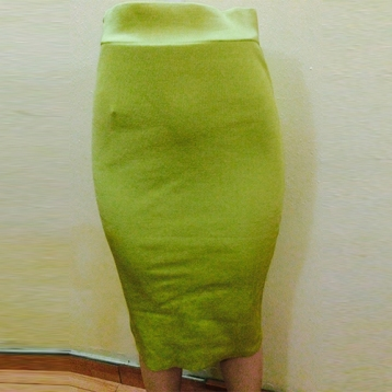 Lemon pencil fitted skirt SOLD OUT