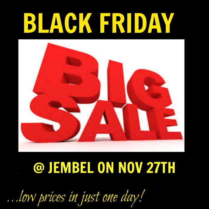 big saLES AT jEMBEL ON 27TH