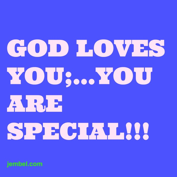 U aRE SPECIAL