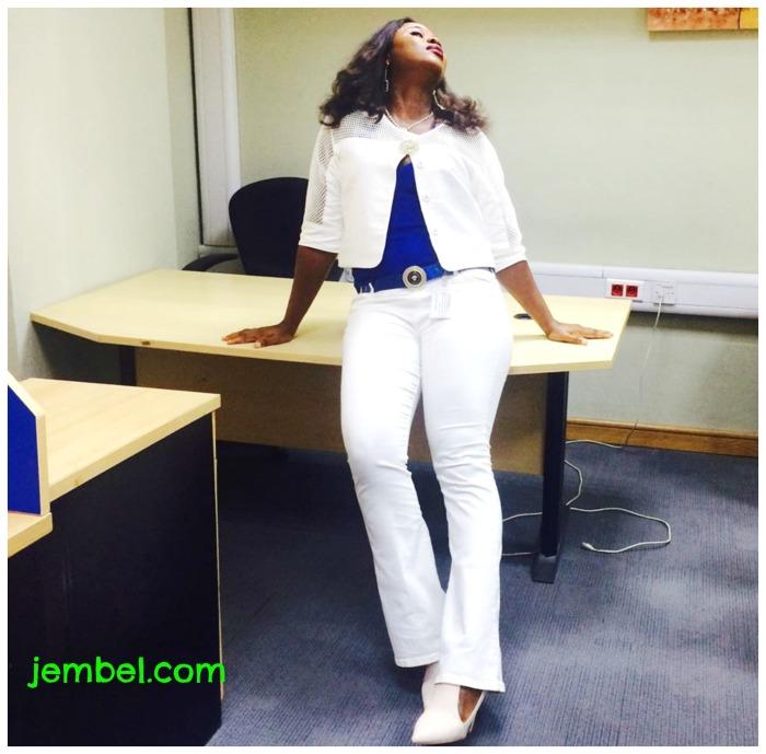 Nkoli single white jacket