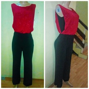 Black jumpsuit with red combo. NGN 15,000SOLD OUT