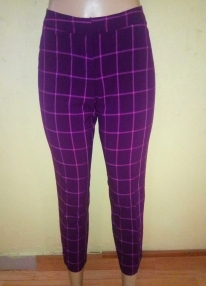 Purple and pink checked Capri pants. NGN 7,000