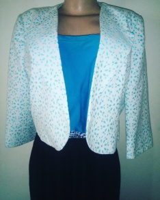 Sky blue lacy jacket NGN 10,000