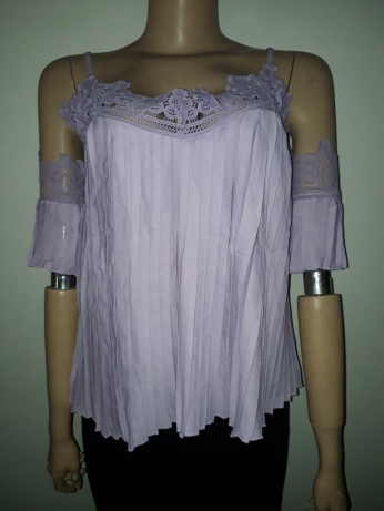 Pleated crotchet shell top NGN 6000