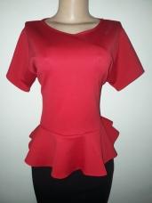 Red peplum short sleeved top. NGN 6500