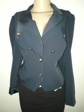 Navy jacket with foldable sleeves. NGN 10000