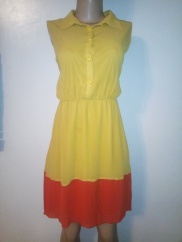 Two colour high and low dress NGN 10,000