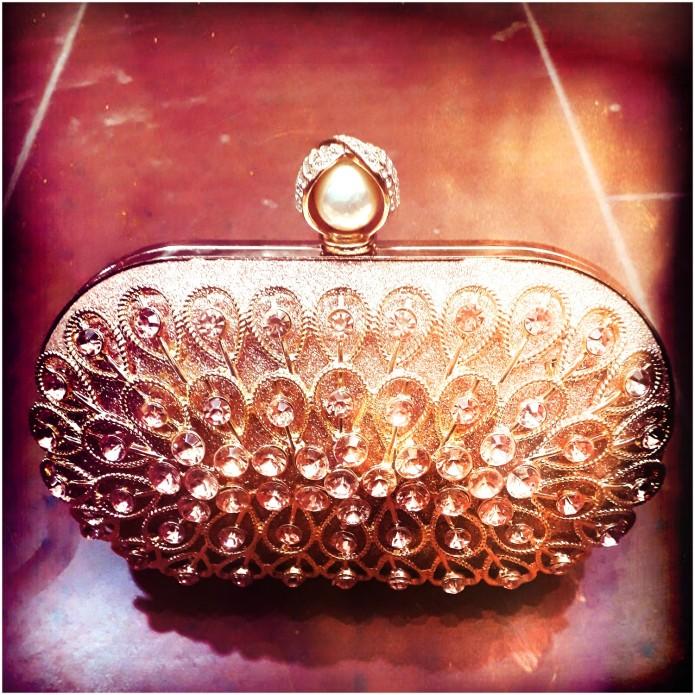 Peach honey bunch clutch bag. NGN 8000