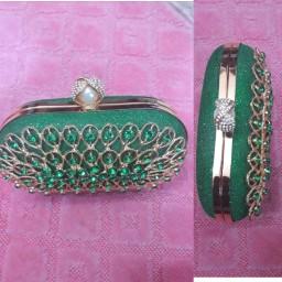 Green honey bunch clutch bag. NGN 8000