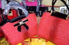 Red structured bag NGN 18000