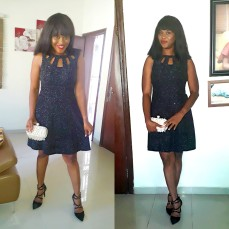 Black dazzling dress with glitters. NGN 13,5000SOLD OUT