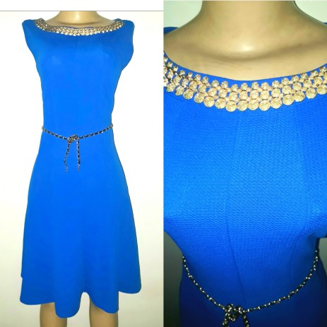 Royal blue belted dress. NGN 100000SOLD OUT