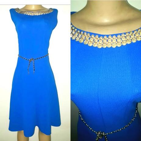 Royal blue belted dress. NGN 100000SOLD OUT