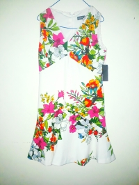 White sleeveless floral dress.NGN 12000 SOLD OUT