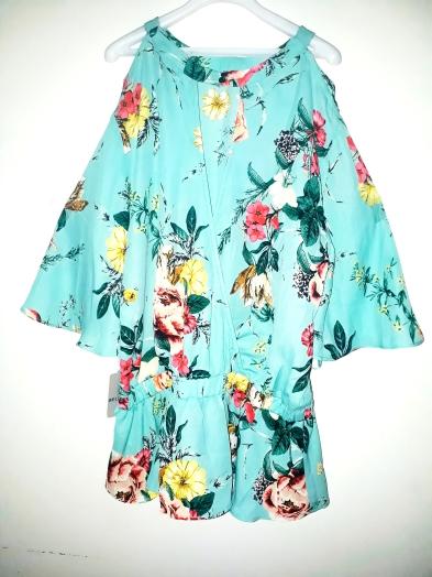 Blue floral cold shoulder top. NGN 6800SOLD OUT