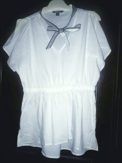White cotton top . NGN 6800 SOLD OUT