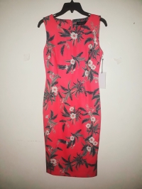Floral pencil peach dress by Ivanka Trump. NGN 16000