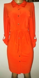 Orange belted dress with foldable 3 qts sleeves. NGN 13,500 SOLD OUT