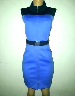 Royal blue belted dress by Tommy Hilfiger. N16500Black polkadott dress. SOLD OUT