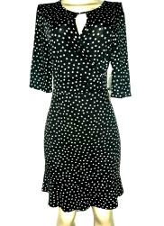 Black polkadott dress. NGN 12,500SOLD OUT