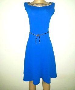 Royal blue belted dress. NGN 10000SOLD OUT