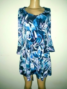 Floral skater dress with 3qts bell sleeves. N9500