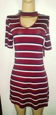 Short striopes casual dress. NGN 7000