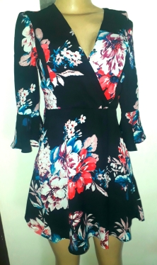 Short floral dress with bell sleeves. NGN 9000