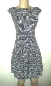 Polcadotts flared dress. NGN 100000SOLD OUT