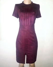Maroon Berry dress with a front slit. NGN 11000