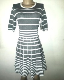 Light charcoal & cream flared dress . NGN 12,0000SOLD OUT