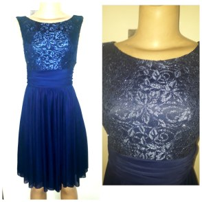 Navy blue dress with lacey designs. NGN 13,500