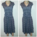 Calvin Klein checkered belted flare dress. NGN 250000SOLD OUT