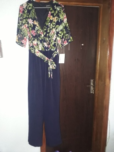 Floral and navy jumpsuit. NGN 13500