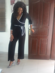 Black Calvin Klein jumpsuit. Available also in Navy. NGN 18000
