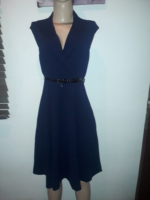 Navy blue belted flare dress by Calvin klein. NGN 22000SOLD OUT
