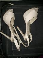 Nude platform sandals. NGN 13000
