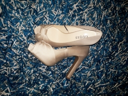 Nude platform shoes by Guess NGN 15000