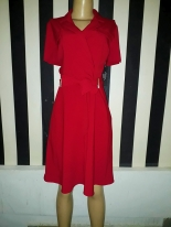 Short sleeved belted flare dress by Tahari. NGN 220000SOLD OUT