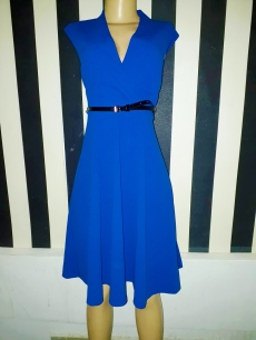 Royal blue belted flare dress by Calvin Klein. Also available in navy and black. NGN 25000SOLD OUT