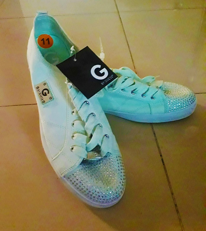 Light blue sneakers by Guess. NGN 15000 SOLD OUT