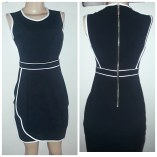 Calvin Klein black dress with white lines. NGN 16000