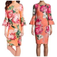 Calvin Klein floral dress with bell sleeves . Also available in other colours. NGN 18000