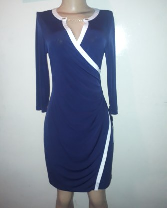 Navy dress by Calvin Klein. NGN 17000