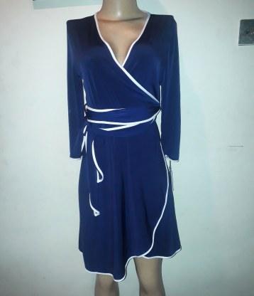 Navy wrap dress by Calvin Klein. NGN 160000SOLD OUT