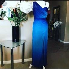 Blue sparkled prom dress. NGN 17000